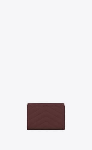 monogramme petit portefeuille enveloppe en cuir embossé grain de poudre