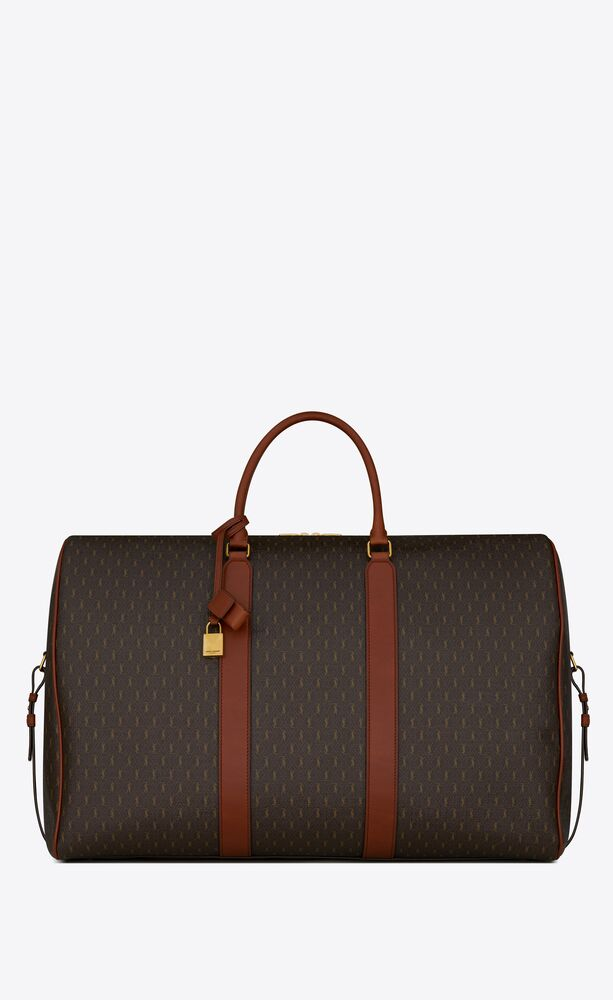 le monogramme 72h duffle in monogram canvas and smooth leather