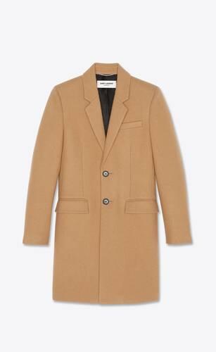 abrigo sastre de fieltro de lana sablé
