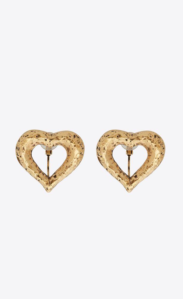 stars & love offene clip-ohrringe in  herzform aus metall