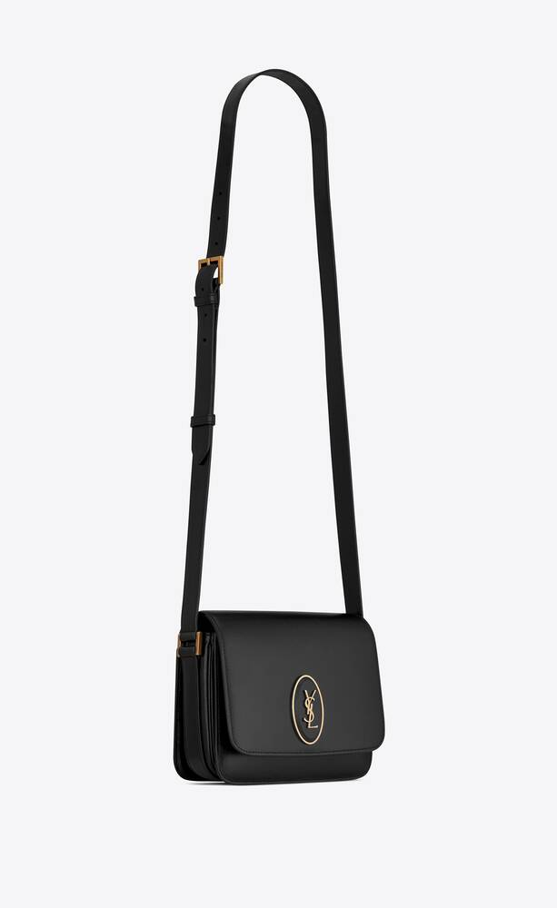 le 61 framed small saddle bag in smooth leather