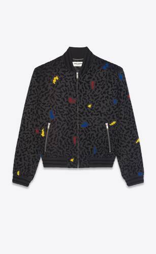 chaqueta teddy con motivo brillante estampado