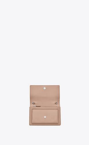 sunset chain wallet en cuir lisse