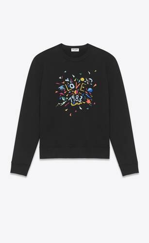 """sweatshirt mit """"love 1983""""-stickerei"""