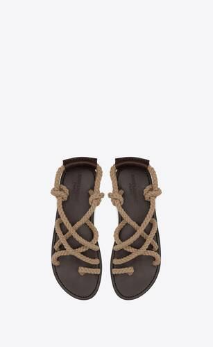 jude sandalen aus kordelschnur und leder