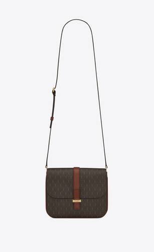 le monogramme camera bag in canvas and smooth leather