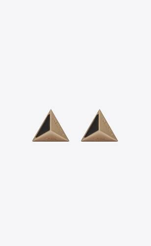 pyramidenförmige manschettenknöpfe aus metall und emaille