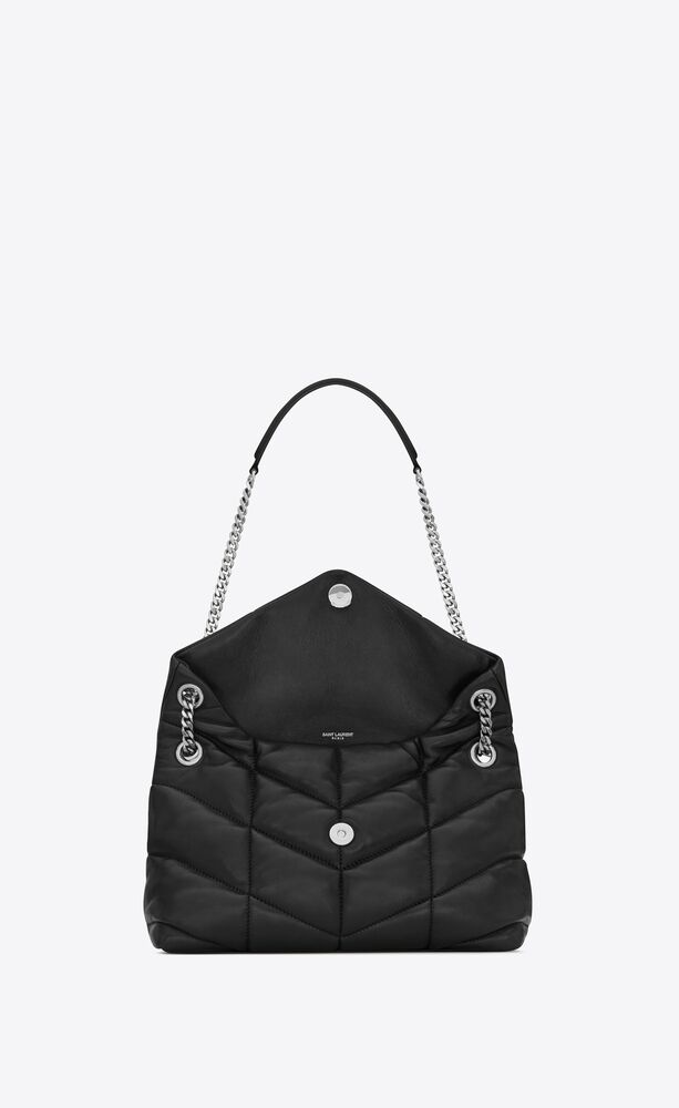 loulou puffer small bag in quilted lambskin