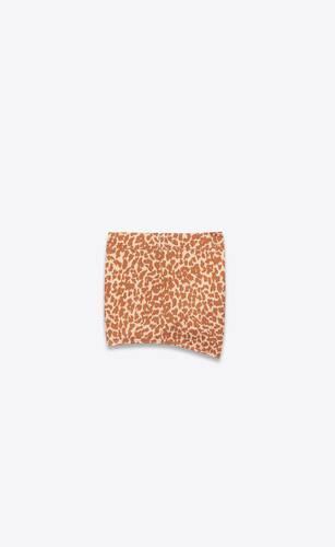 mini-short en viscose froissée à imprimé léopard