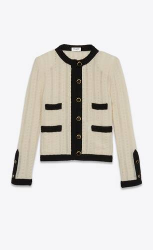 short tailored jacket in wool