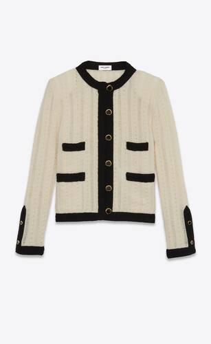 veste tailleur courte en laine