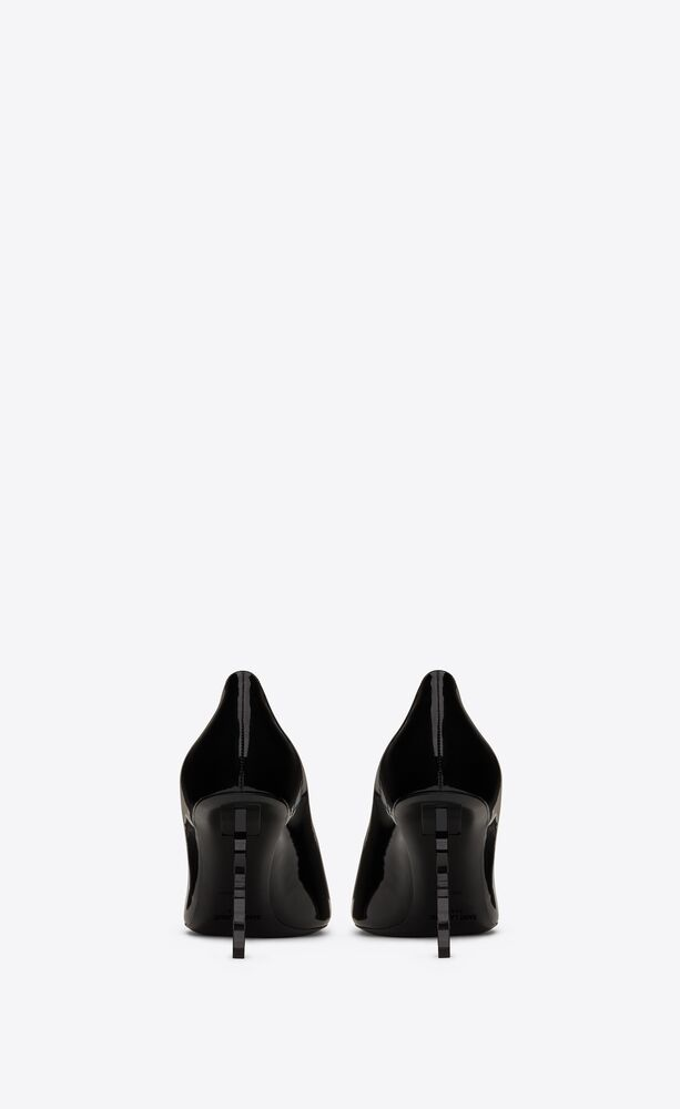 opyum pumps in patent leather with black heel