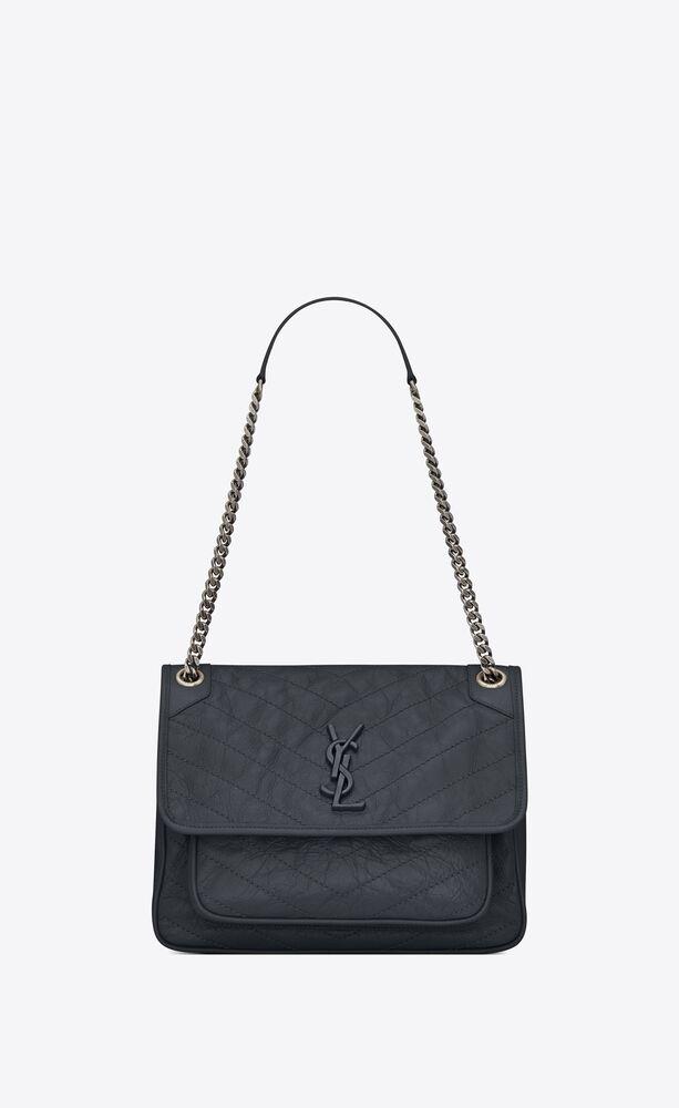 niki medium bag in crinkled vintage leather