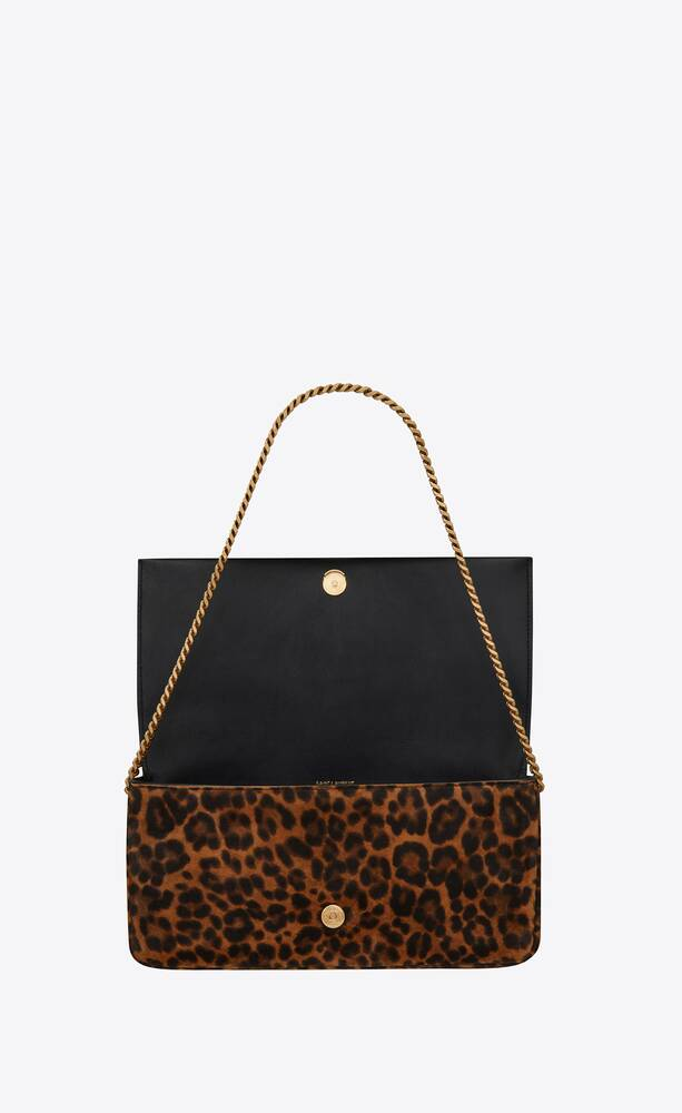 kate 99 with tassel in leopard-print suede