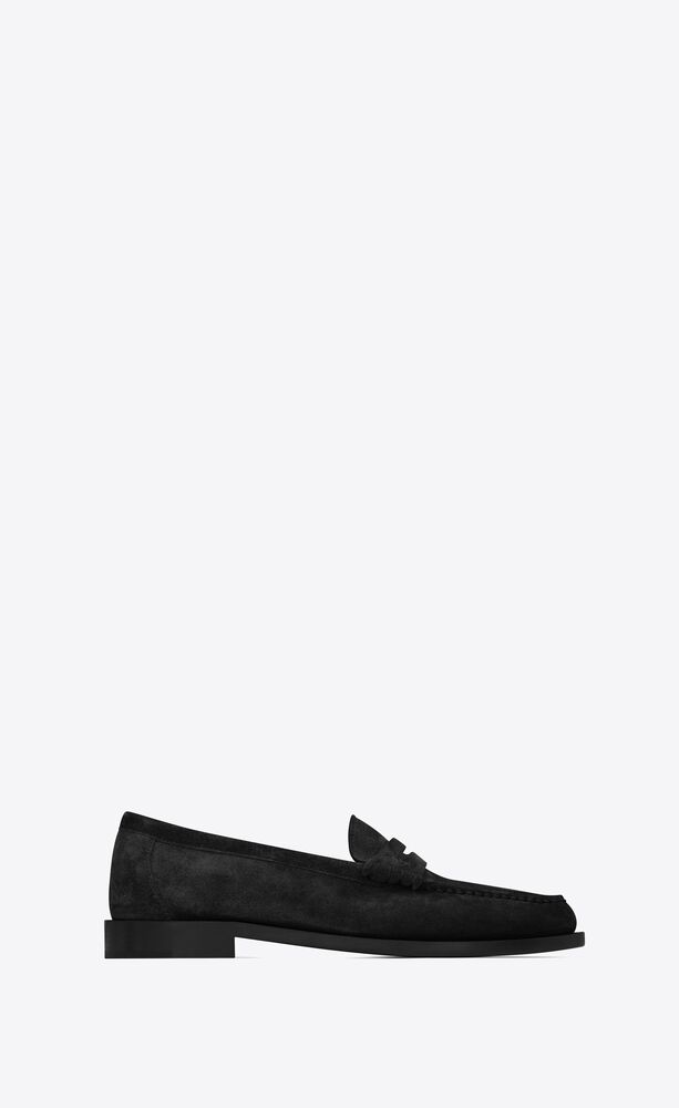 le loafer monogram penny slippers aus wildleder
