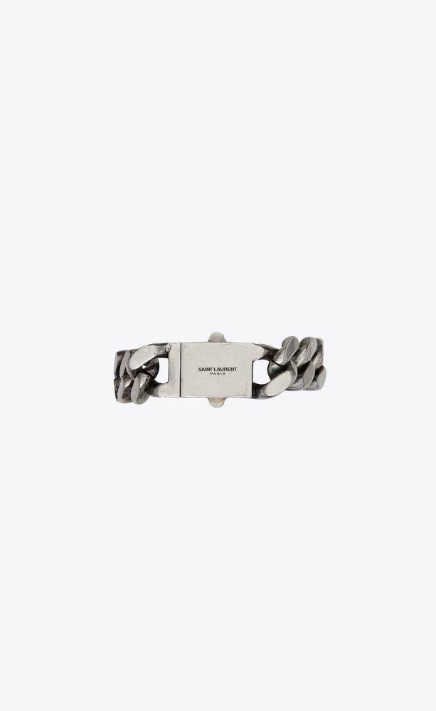 metal curb chain bracelet