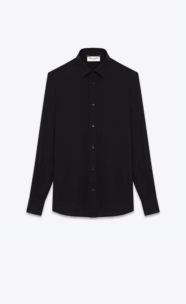 shirt in black silk crêpe