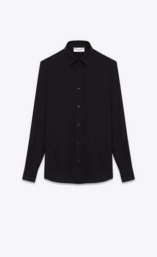 chemise en crêpe de soie noir