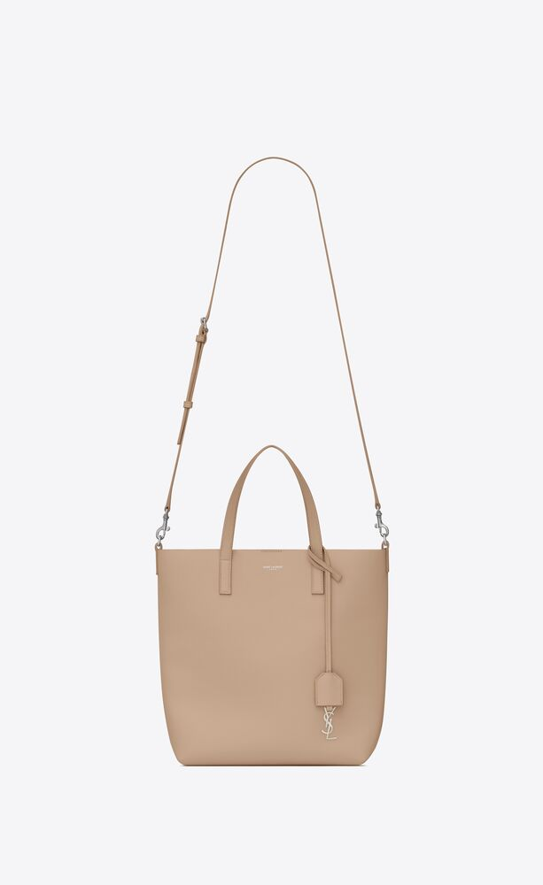 bolso shopper saint laurent north/south toy de piel flexible