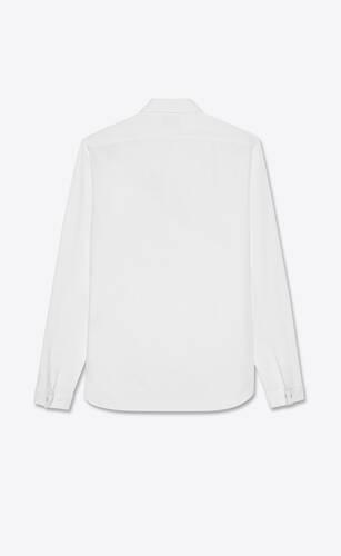 small bib shirt in cotton poplin