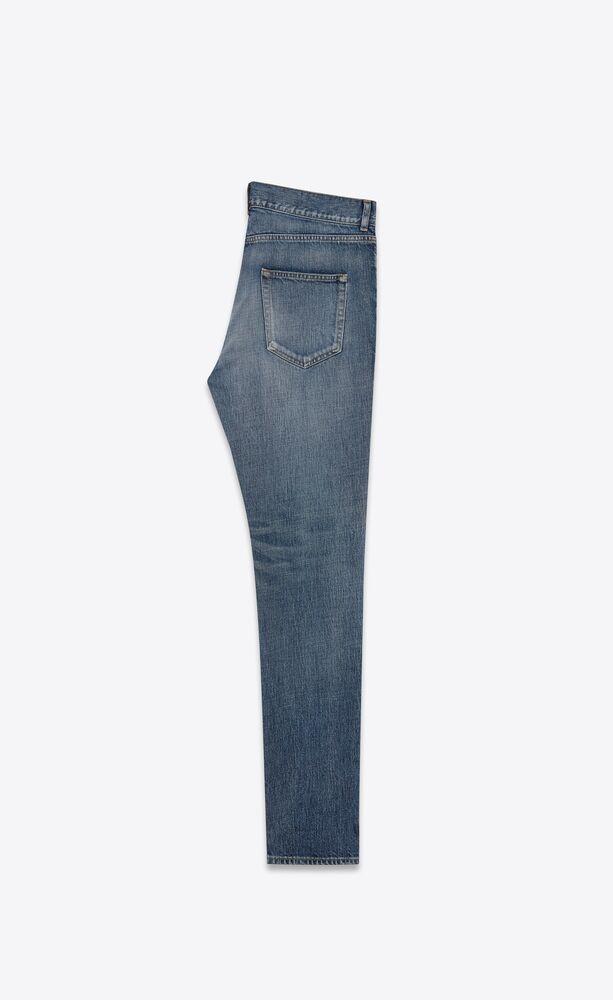 skinny-fit jeans in dirty 90's vintage blue denim