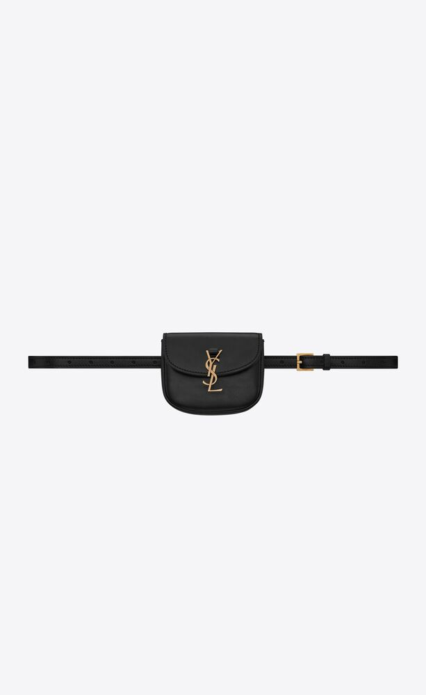 kaia belt bag in smooth leather