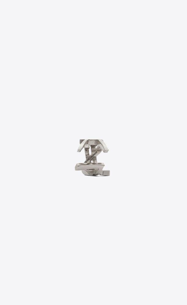 bague d'oreille monogram en métal
