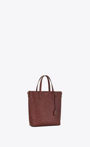 shopping bag saint laurent n/s toy  in crocodile-embossed leather