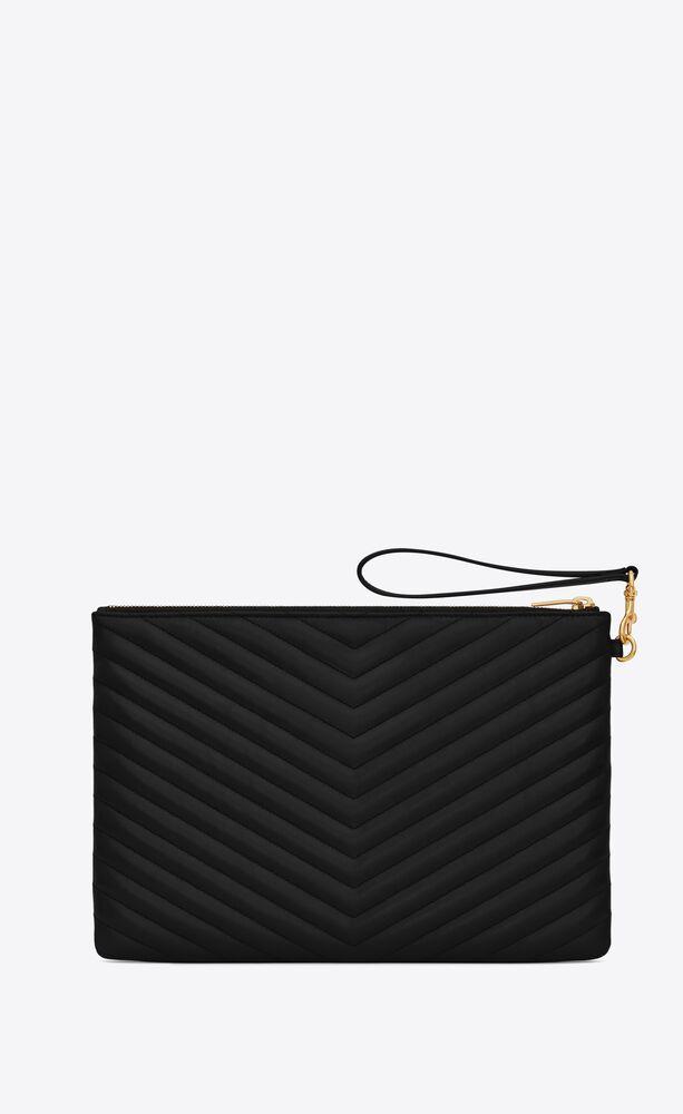 monogram tablet pouch in matelassé leather
