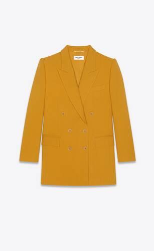 giacca doppiopetto yves in chevron di lana