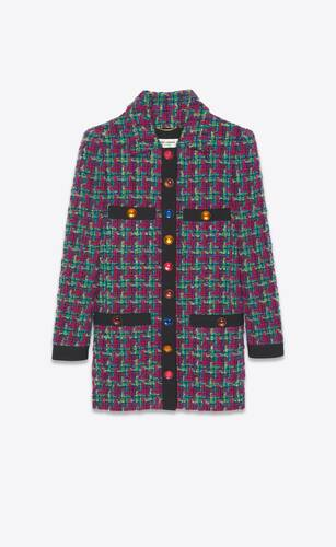 long jacket in houndstooth
