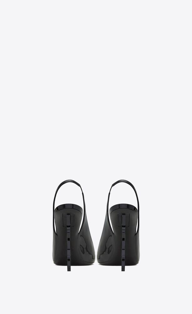zapatos de salón slingback opyum de charol con tacón negro