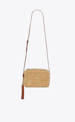camera bag lou in shearling merino