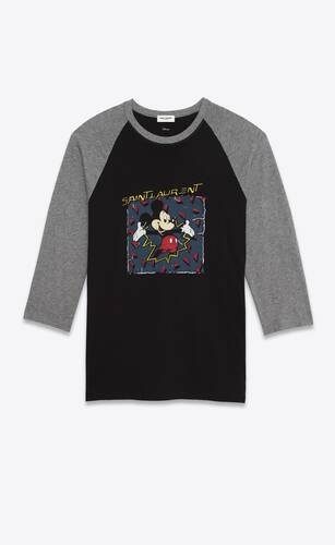 """saint laurent mickey mouse"" t-shirt"
