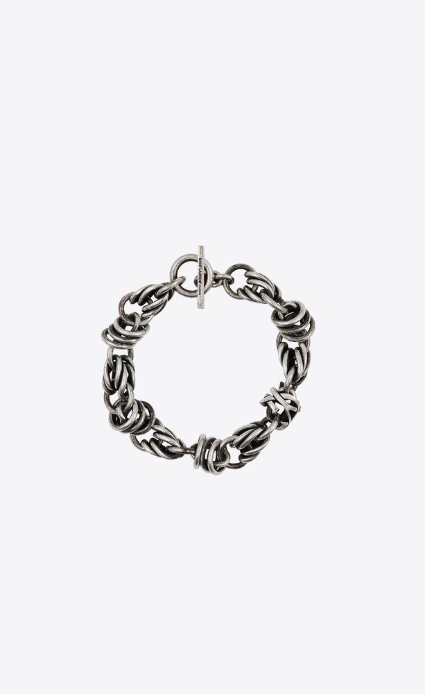 monogram link chain bracelet