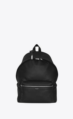 city backpack in matte leather