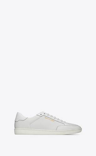 sneakers court classic sl/10 in morbida pelle traforata