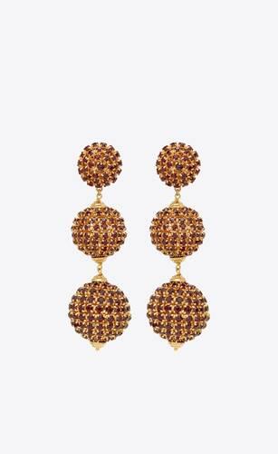smoking crystal ball pendant earrings