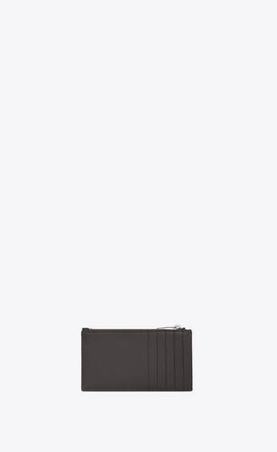 monogram fragments zip card case in quilted grain de poudre embossed leather