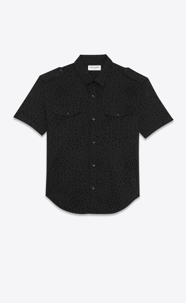 shirt in dotted cotton