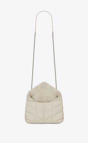 puffer mini bag in quilted lambskin