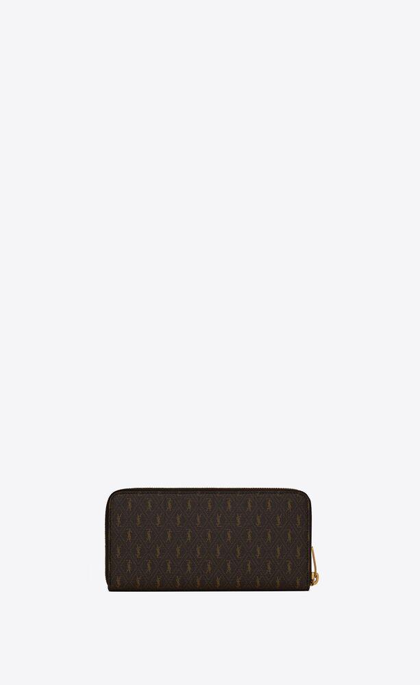 le monogramme zip-around wallet in saint laurent monogram canvas
