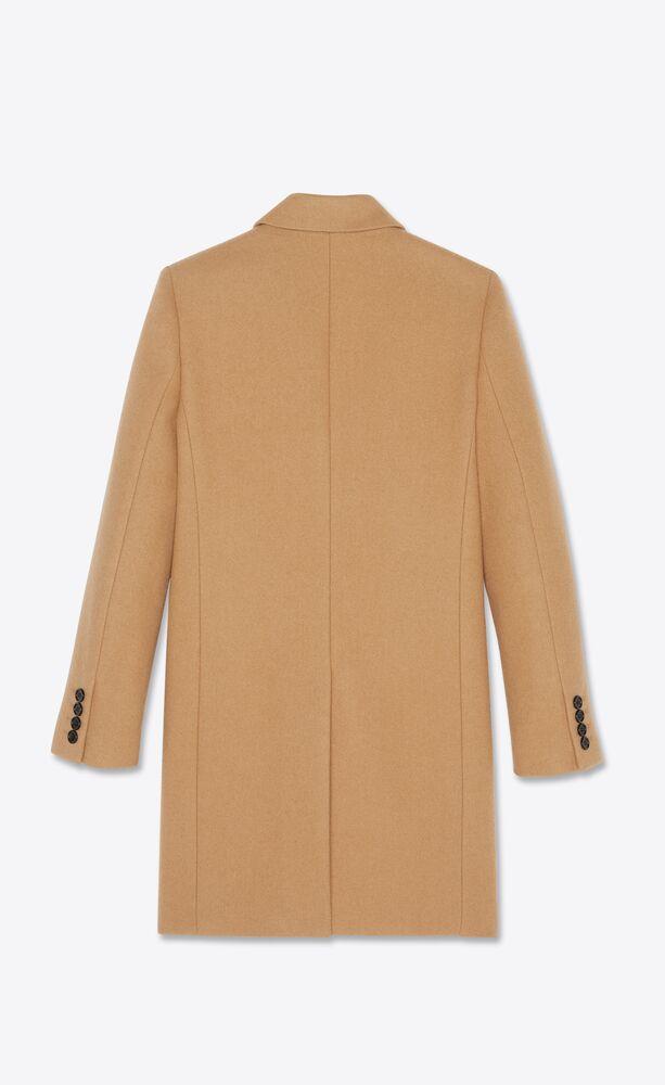 tailored coat in sablé wool felt