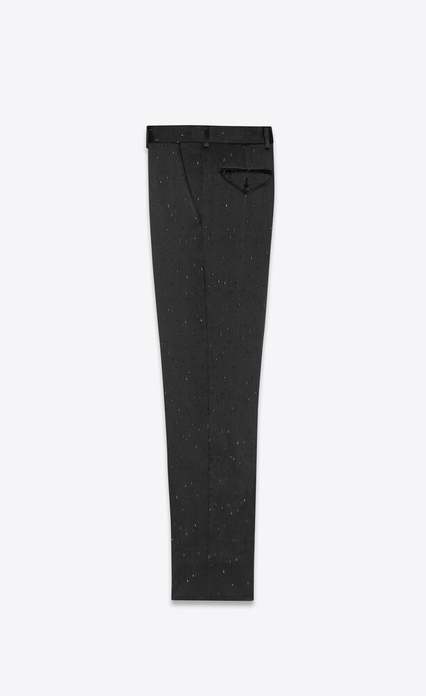 striped straight-leg pants in flecked flammé