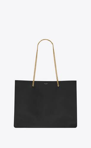 bolso shopping chain medium de piel lisa