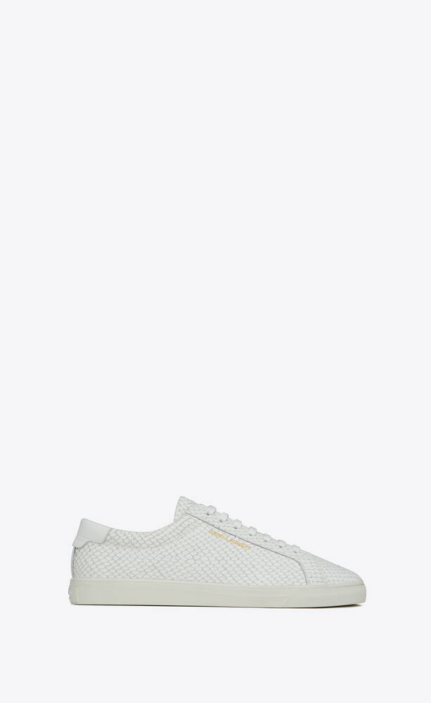 andy sneakers in python-embossed nubuck and smooth leather