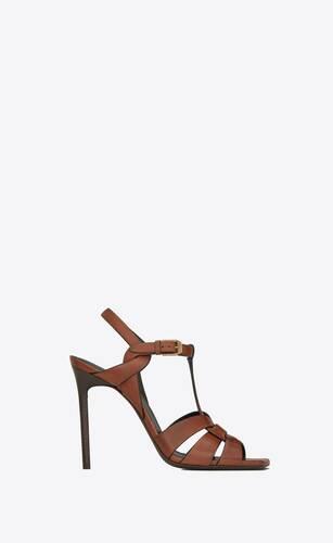 tribute sandalen aus glattleder