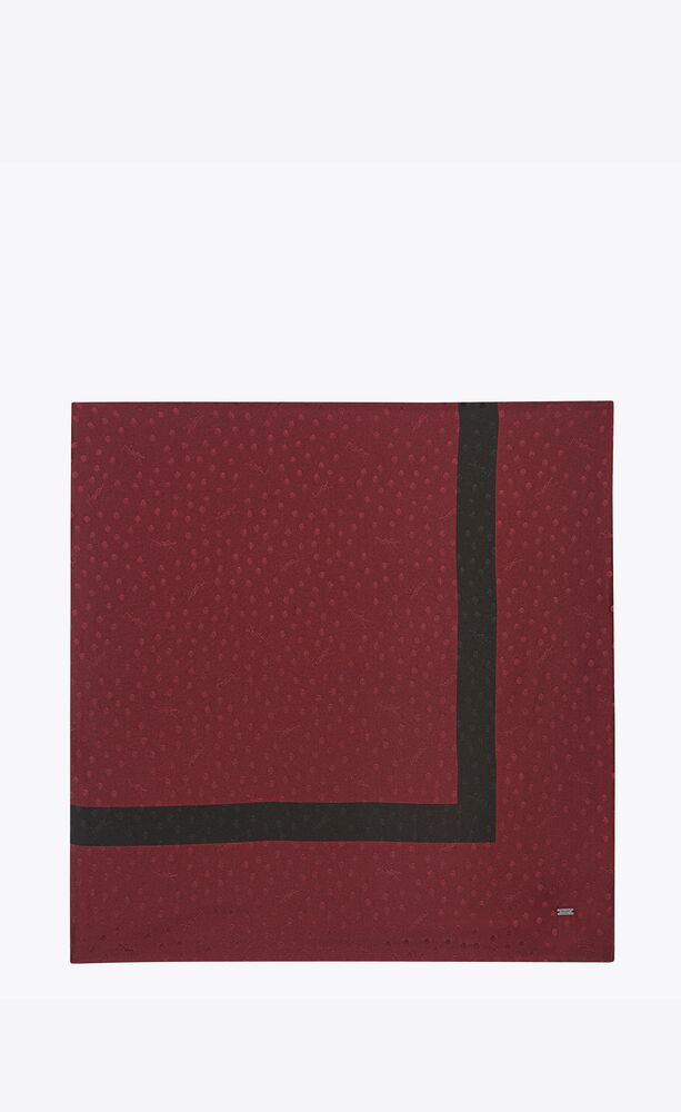 dotted monogram square scarf in silk jacquard