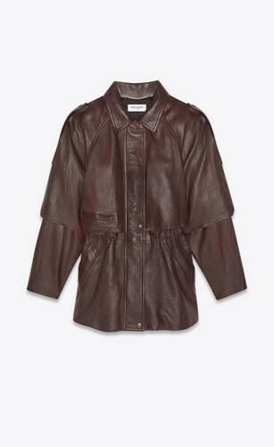 parka coat in supple lambskin