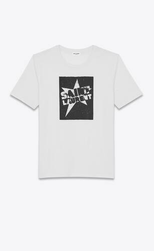 """saint laurent"" star t-shirt"